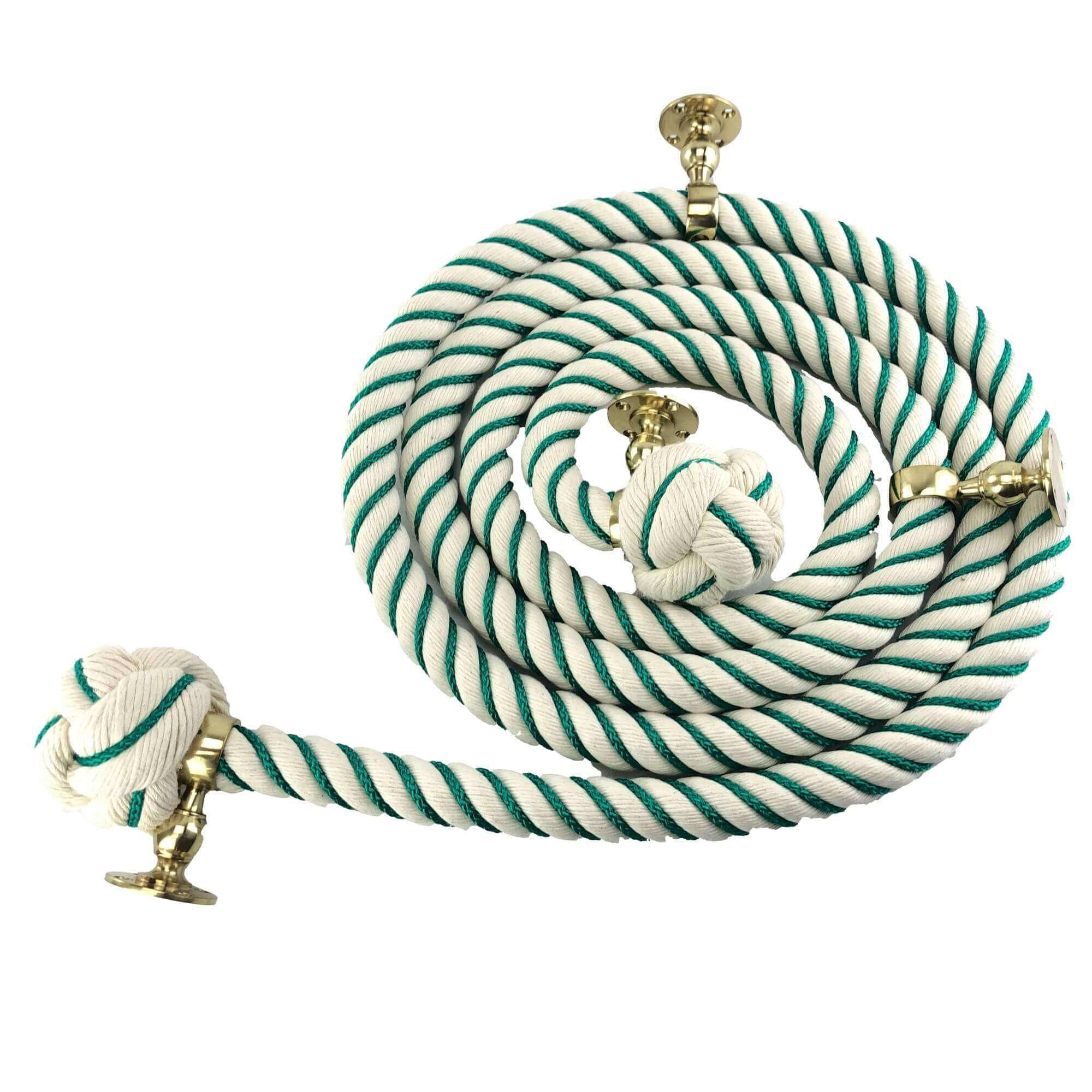 natual cotton 4 polished brass fittings emerald green worming1