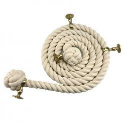 natural cotton bannister rope polished brass1