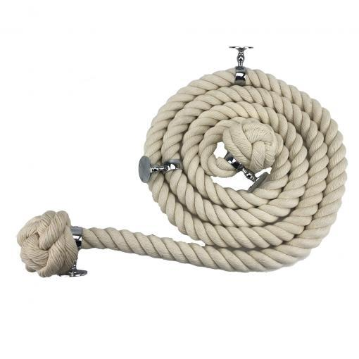 natural cotton bannister rope polished chrome1