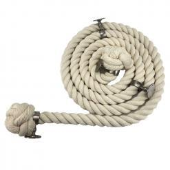 natural cotton bannister rope satin nickel1