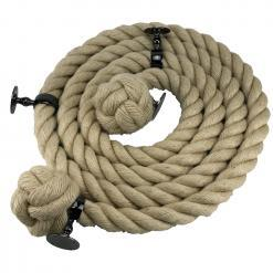 natural jute bannister rope gun metal black1