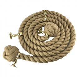 natural jute bannister rope polished brass1