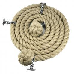 natural jute bannister rope polished chrome1