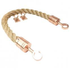 synthetic manila barrier ropes with copper bronze hook and eye plates 1