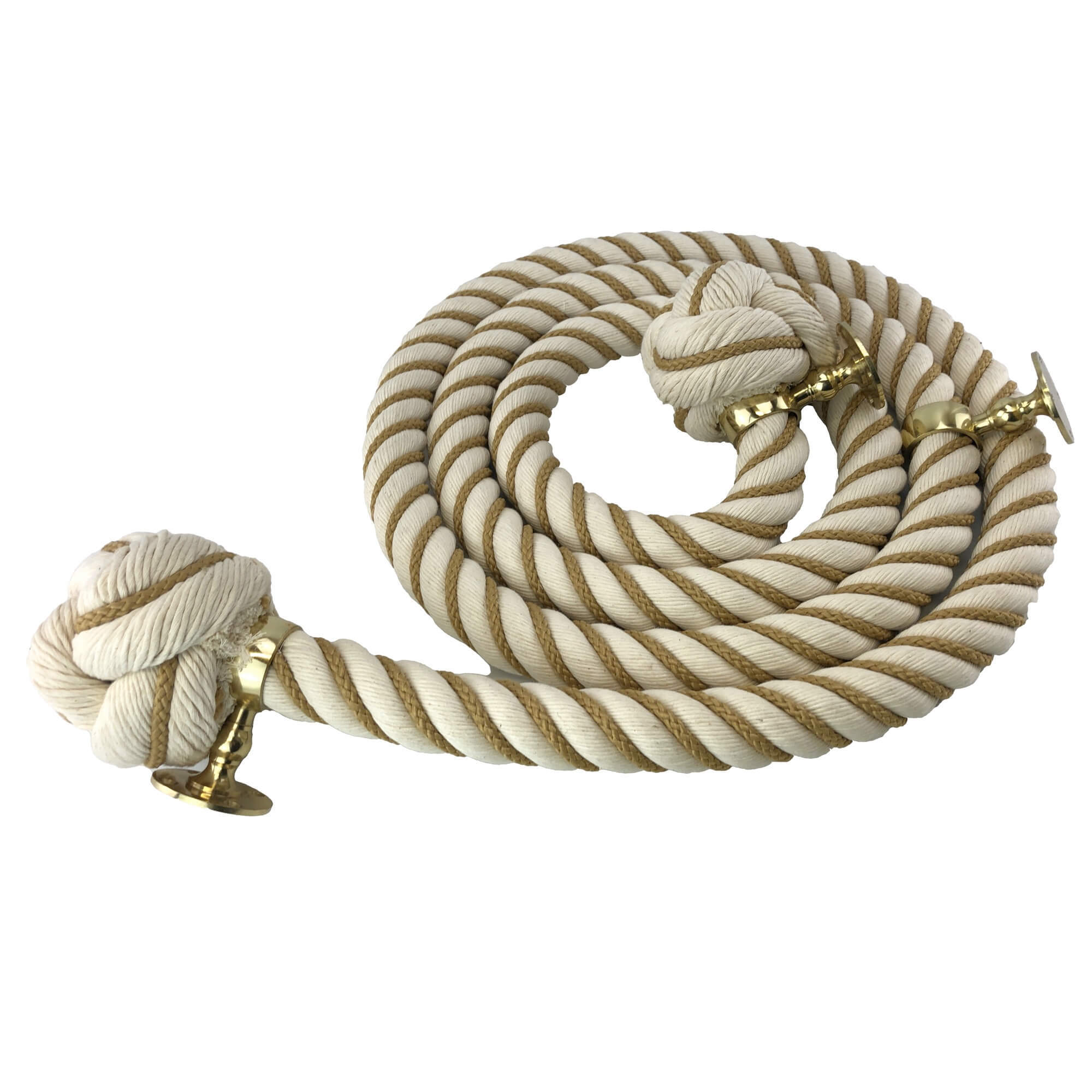 synthetic white polyhemp wormed bannister rope
