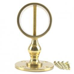 32mm polished brass low profile handrail rope fitting 4