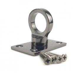 24mm gun metal black eye plate rope fitting 1