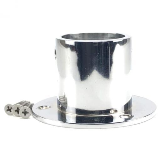 28mm polished chrome cup end rope fitting 3