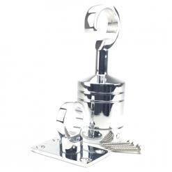 28mm polished chrome hook and eye plate rope fitting 5