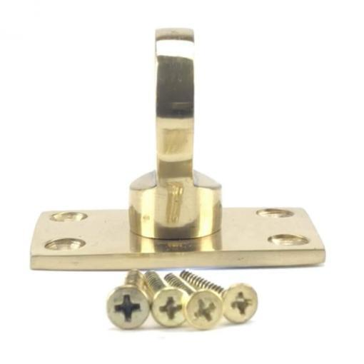 32mm polished brass eye plate rope fitting 4