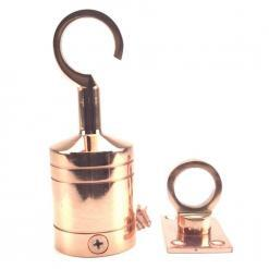 36mm copper bronze hook and eye plate rope fitting 3