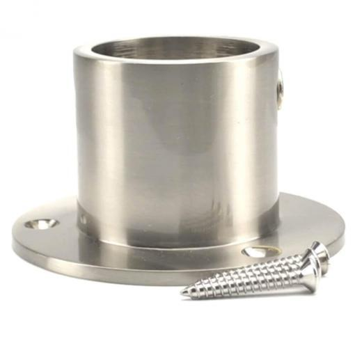 40mm satin nickel cup end rope fitting 4