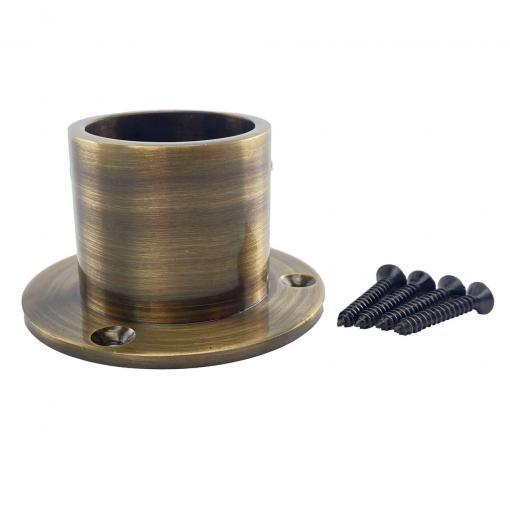 32mm antique brass cup ends 2