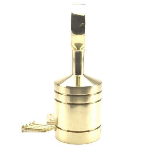 40mm polished brass hook and eye plate rope fitting 2