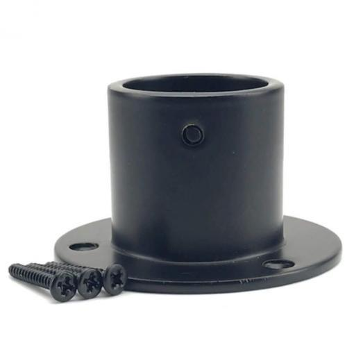 40mm powder coated black cup end rope fitting 2